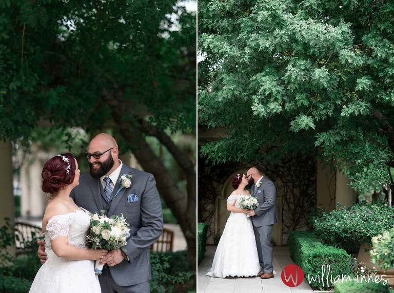 Private moment with bride and groom during a wedding at TPC Valencia