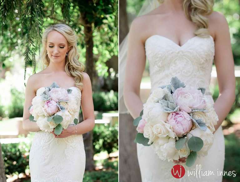 Wedding bouquet at the Newhall Mansion