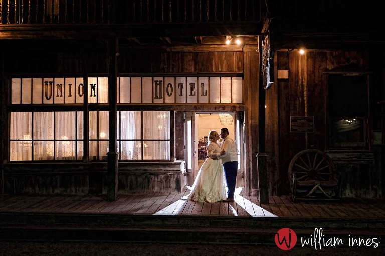 Evening time at a 1880 Union Hotel wedding